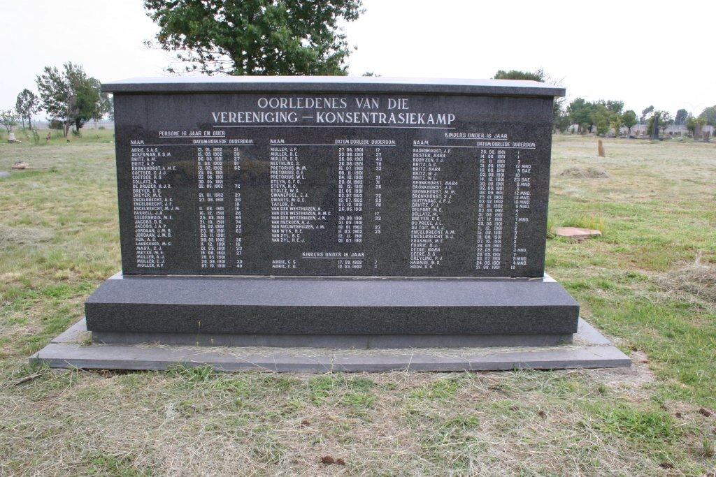 Vereeniging Concentration Camp Cemetery