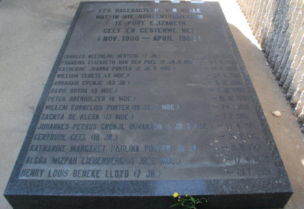 Port Elizabeth Konsentrasiekamp Monument
